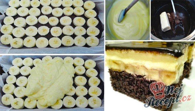 Famózní, banánovo-čokoládový zákusek