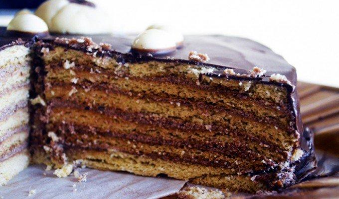 Medový dort s čokoládou