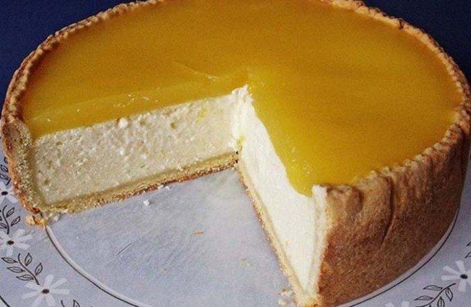 Tvarohovo-pomerančový dort bez cukru