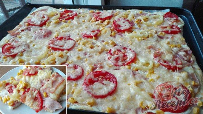Špaldová pizza se smetanovým základem