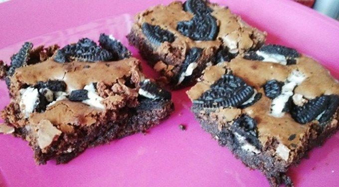Brownies s Oreo sušenkami