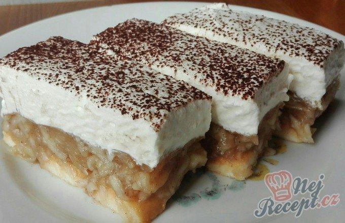 Nepečené jablečné řezy s vanilkovou příchutí