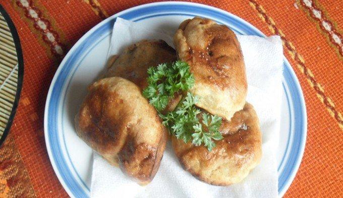Plněné buchty z bramborového těsta