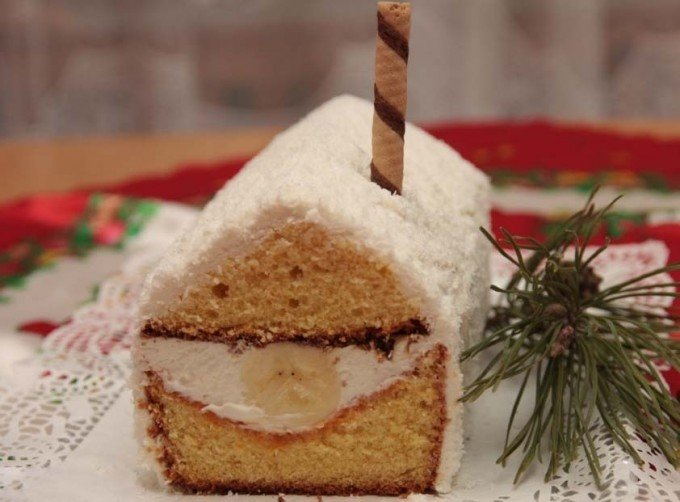 Vánoční kokosová chaloupka