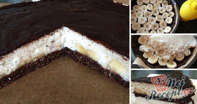 FITNESS kokosový dort s banány – FOTOPOSTUP
