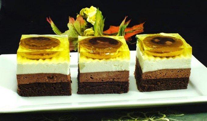 Jaffa koláč se želatinou